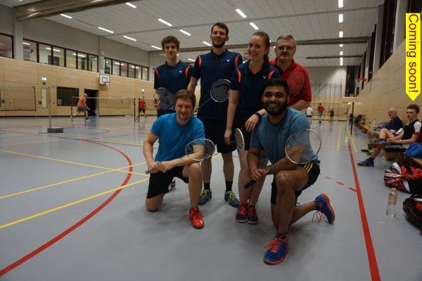 Teamfoto Mannschaft Eintracht Südring Badminton
